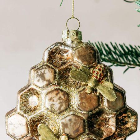 Glass Honeycomb Decoration