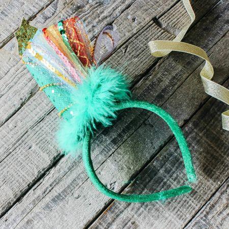 Glitter Tree Headband