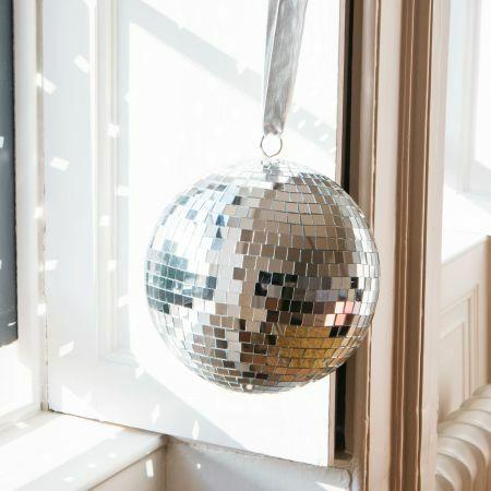 Silver Mirror Disco Balls