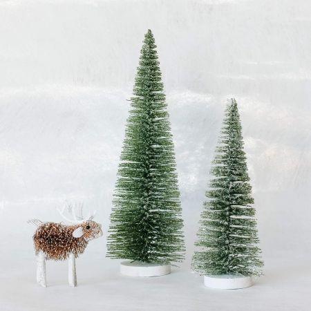Glitter Bristle Trees