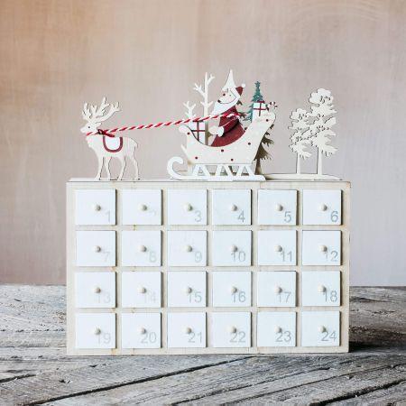 Santa on Sleigh Fill-Your-Own Advent Calendar