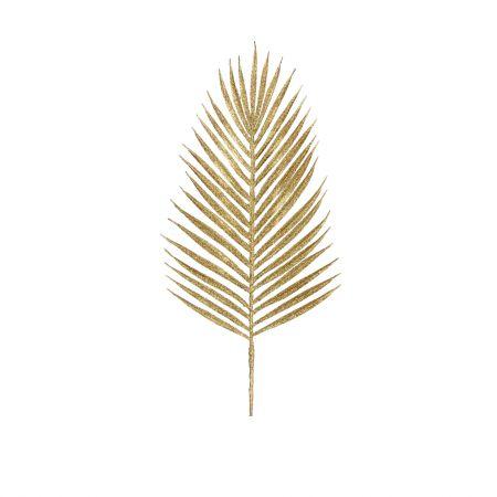 Gold Glitter Palm Leaf