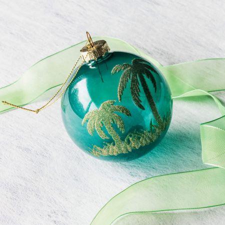 Glitter Palm Tree Bauble