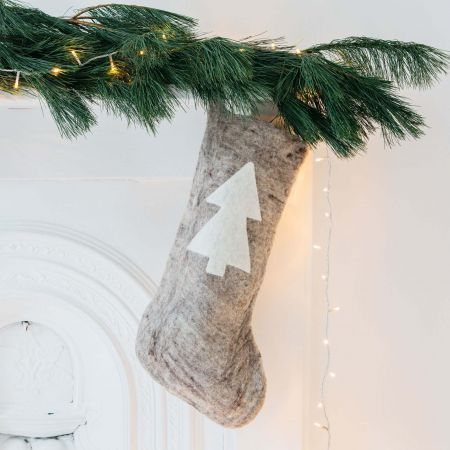 Christmas Tree Felt Stocking