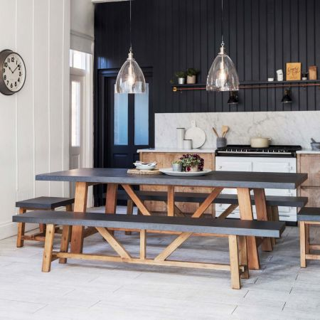 Arden Table And Bench Set