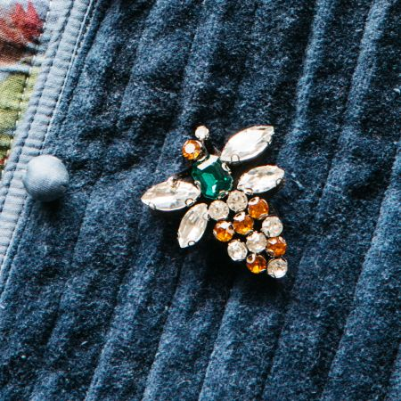 Diamante Bee Brooch