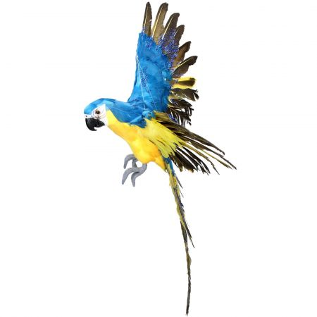 Blue and Yellow Flying Parrot