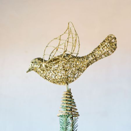 Gold Bird Tree Topper