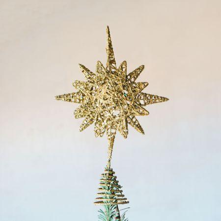 Gold Bethlehem Star Tree Topper