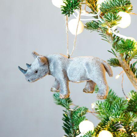 Faux Fur Rhino Decoration