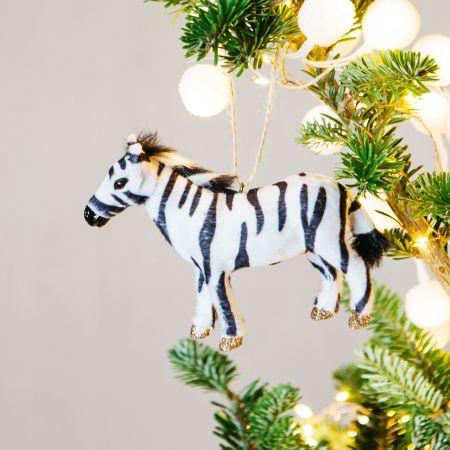 Faux Fur Zebra Decoration