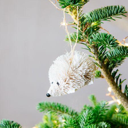 White Bristle Hedgehog Decoration