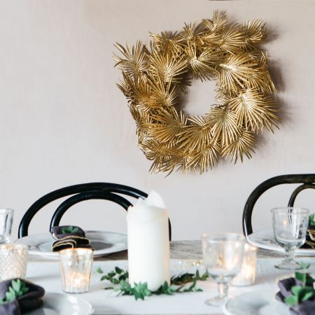 Gold Palm Leaf Wreath