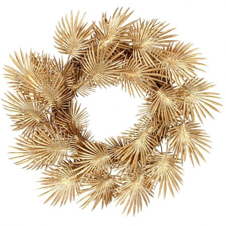 Gold Palm Leaf Wreath