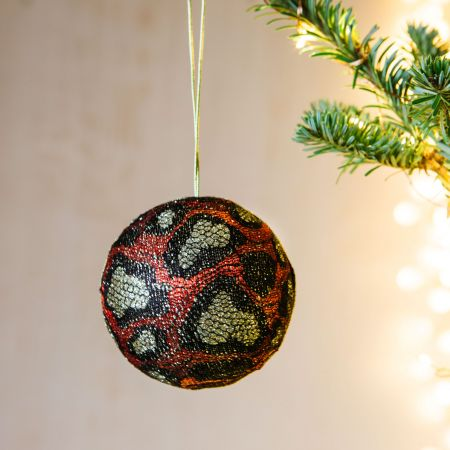Red Animal Print Bauble