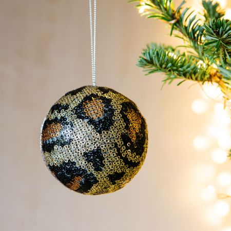 Copper Animal Print Bauble