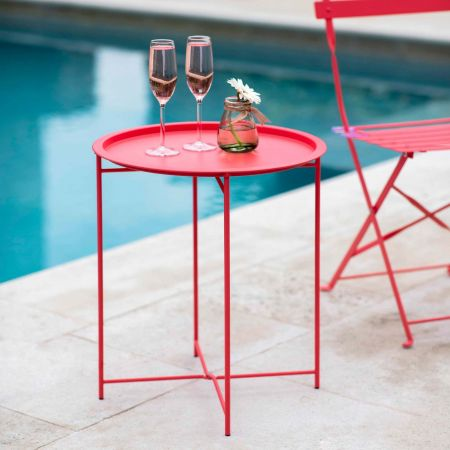 Coral Outdoor Tray Table