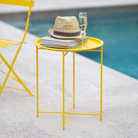 Yellow Outdoor Tray Table