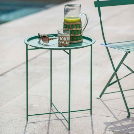 Green Outdoor Tray Table