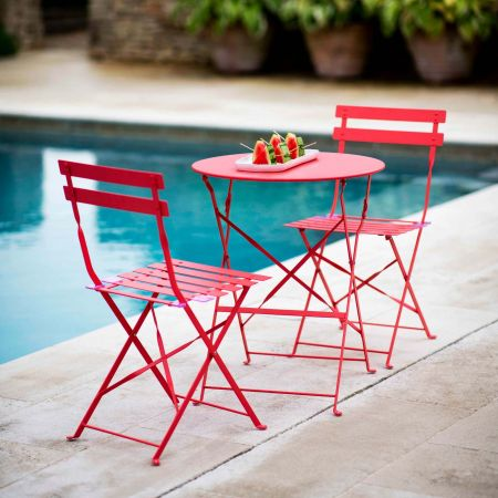 Coral Bistro Table and Chair Set