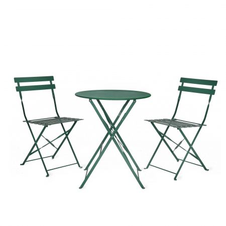 Dark Green Bistro Table and Chair Set