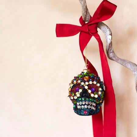 Beaded Skull Decoration - Thumbnail