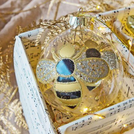 Bumblebee Glass Bauble