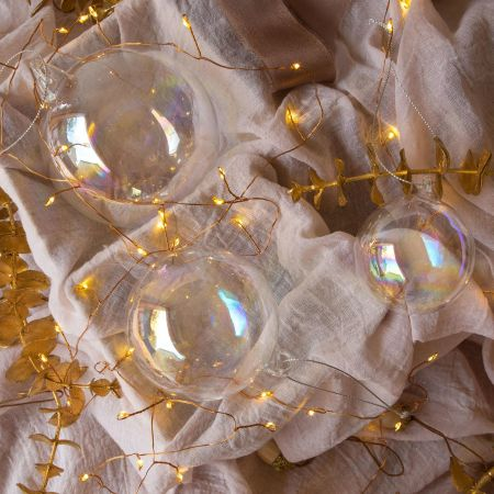 Clear Soap Baubles