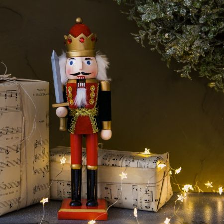 Wooden Nutcracker with Sword