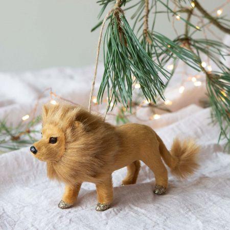 Leo the Lion Faux Fur Decoration