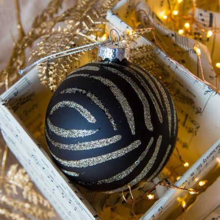 Zebra Stripe Bauble