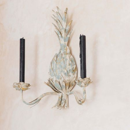 Antiqued Pineapple Wall Sconce