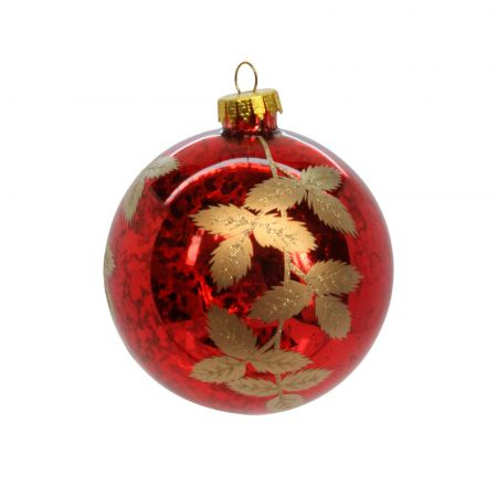 Cherry Red Leaves Bauble