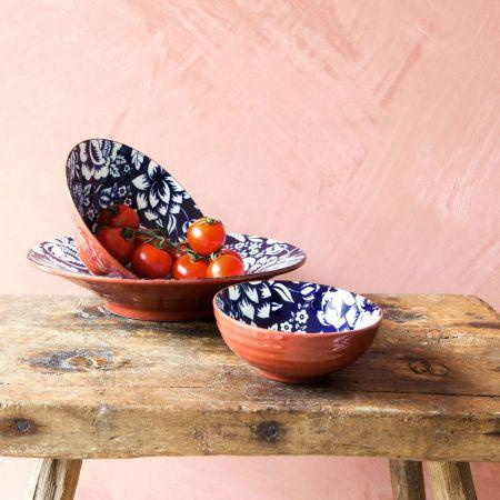 Terracotta Floral Bowls
