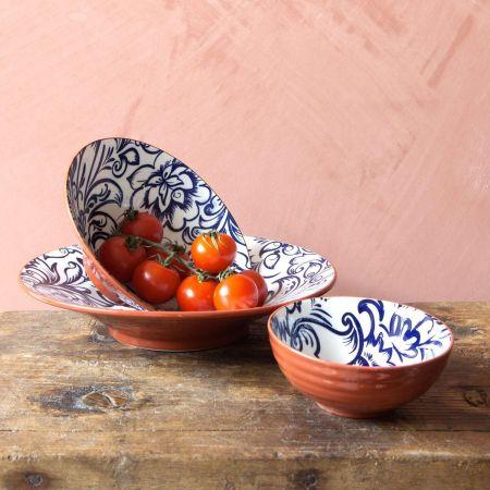 Terracotta Swirl Bowls