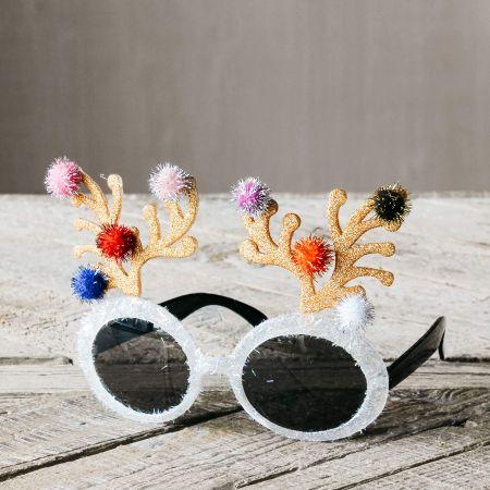 Glittered Antler Sunglasses