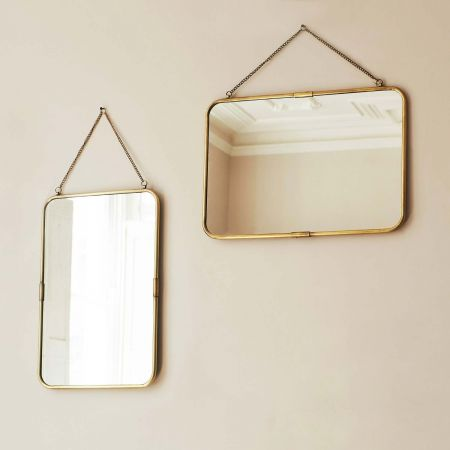 Gold Carriage Mirrors
