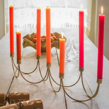Gold Wave Candle Holder