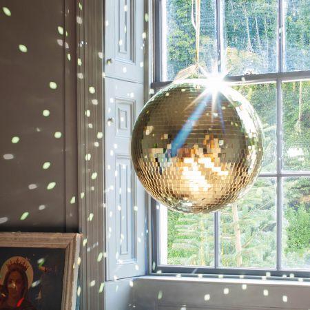 Large Gold Disco Balls