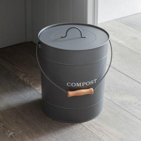 Charcoal 10L Compost Bucket