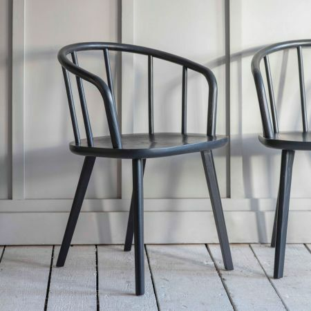Set of Two Carbon Carver Chairs