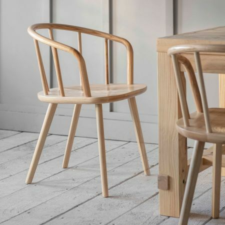 Set of Two Ash Carver Chairs