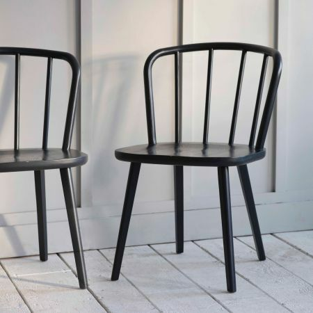 Set of Two Carbon Uley Chairs