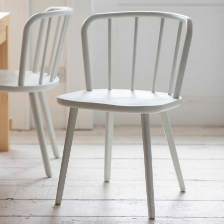 Set of Two White Uley Chairs