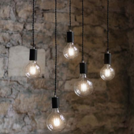 Soho Carbon Five Light Pendant