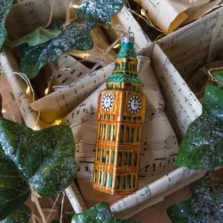 Painted Glass Big Ben Decoration