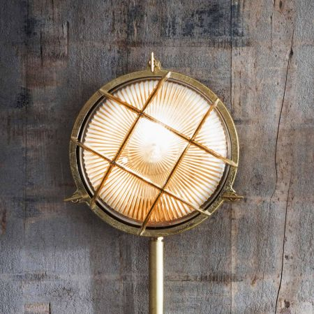 Devonport Round Brass Bulk Head Light