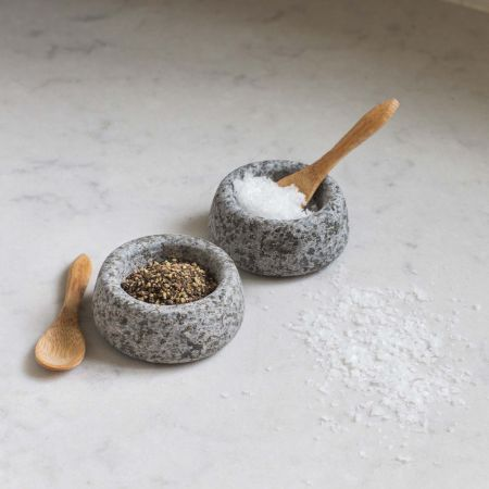 Granite Salt and Pepper Pots