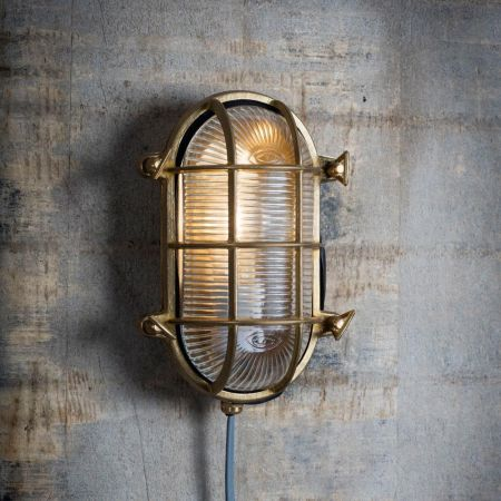 Devonport Oval Brass Bulk Head Light