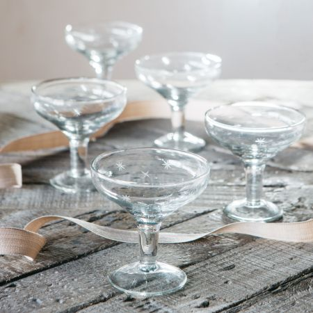 Etched Stars Champagne Coupe